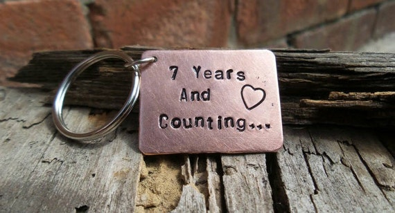 Year wedding anniversary keyring seventh copper th gifts