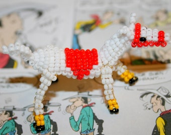 Beaded animals: horse in seed beads