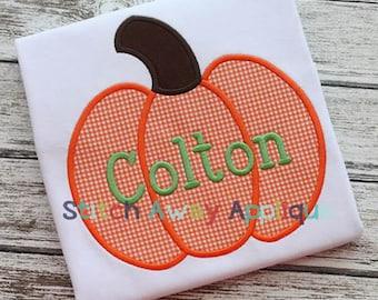 Fall Pumpkin Machine Applique Design