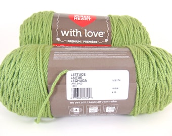Lettuce - Red Heart With Love worsted weight 100% acrylic yarn - 2600
