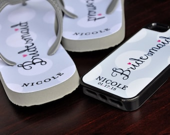 Custom Flip Flops, Bridesmaid, Custom Wedding Flip Flops, Wedding Flip Flop, Flip Flops, Custom, Custom Name Sandals, Bridal Flip Flops