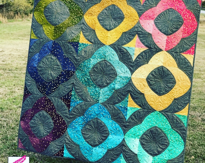 Cathedral Window Quilt - Finished Throw Size Quilt