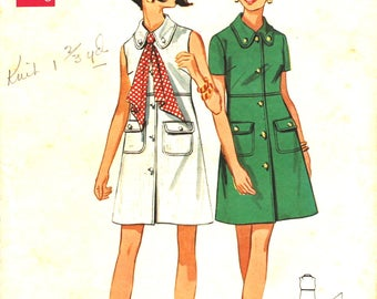 High Waisted Slightly A Line Dress Bust 36 Butterick 5448 Vintage Sewing Pattern Size 14