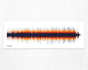 Home : Sound Wave Wall Art - Song Print, Canvas Design, Framed Print
