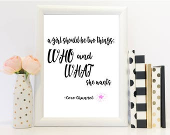 Channel Print, Channel Quote, Channel Art, Motivational art, Motivational Print, Motivational Quote