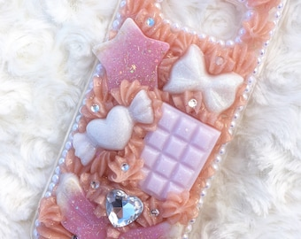 Samsung Galaxy S8 Rose Gold Decoden Whip Case