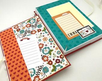 Personalized Baby Girl Scrapbook, New Baby Journal, Baby Girl Diary, Little Princess Gift, Gift for newborn girl, Custom Baby Memory Book