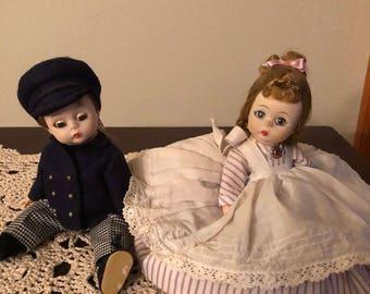 Pair of Alexander Kins Dolls, Madame Meg and Laurie Little Men