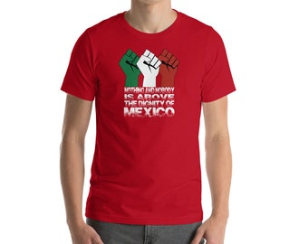 Nothing and Nobody Is Above the Dignity of Mexico Tee Shirt