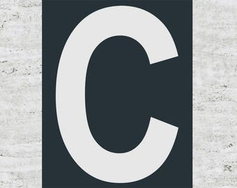 Custom Letter Print Sign Poster Design