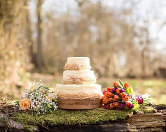 Personalised rustic wedding cake stand made to order, ristic wedding cake stand, barn wedding