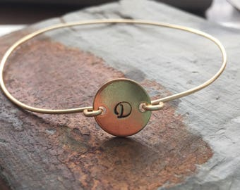 Custom gold kids name bracelet for mommy Unbiological sister Bridesmaid proposal Monogram bracelet Engraved bracelet Gold initial bracelet