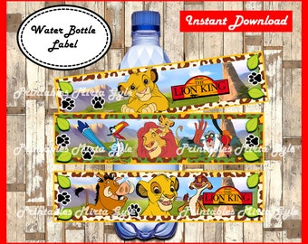 The Lion King Water Bottle Label, printable The Lion King party Water Bottle Label, The Lion King water