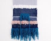 Totem // big woven wall hanging // tapestry weaving Fiber Art
