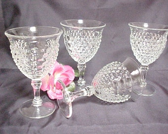 1930s American Pioneer Crystal Goblets by Liberty Works, Vintage Hard to Find Depression Wine Glasses, Collectible Clear Dinnerware