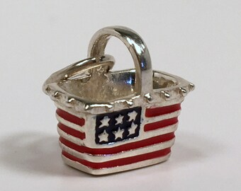 US PATRIOTIC JEWELRY, 4th of July Outfit, Patriotic Outfit, Fourth of July, Independence Day, Patriotic Jewelry, Sterling Silver, Enamel