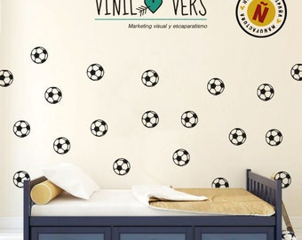 Soccer Balls Decorative/Vinilo/