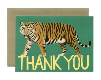 """Tiger Thank You Card - """"Thank You"""" - ID: TY096"""