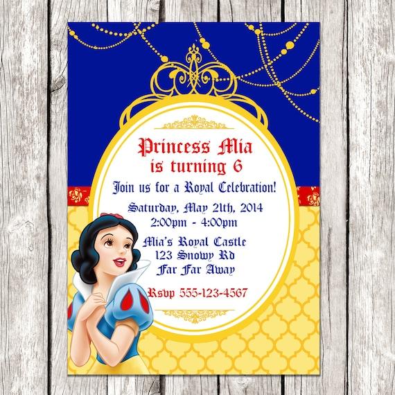 snow white invitation snow white birthday party diy