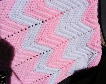 Crocheted Baby Afghan, Handmade Baby Blanket, Baby Blanket