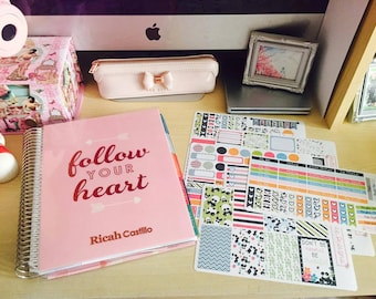 Weekly Planner Sticker Kit- Pandaful Life: made to fit the Happy Planner, EC Vertical Planner and Large (A5) Planners