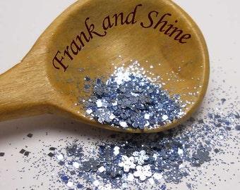 Gardenia Blue Metallic Solvent Resistant Nail Glitter Mix 5g