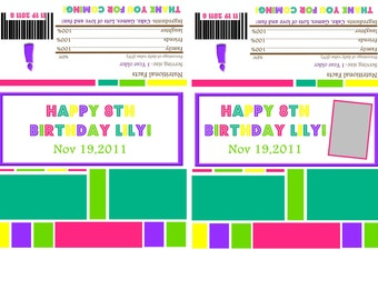 BRIGHTS-Candy Bar Wrappers-DIGITAL-check out the matching items in my shop