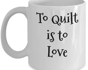 Happiness is quilting mugs-Quilt mugs-For women-Gifts for her