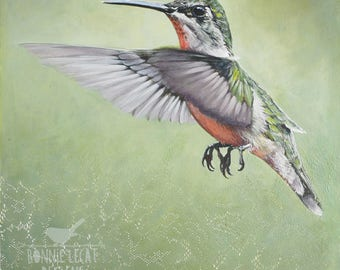 Birds, Bird Art, Hummingbird, Hummingbird Prints, Hummingbirds, Bird Prints, Bird Lover Gift, Bird Lover Gifts, Green Wall Art, Bird Gift