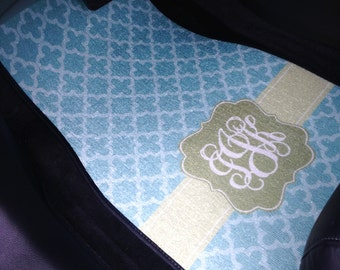 Personalized Car Floor Mats - Clubs DIY customized monogram car mats
