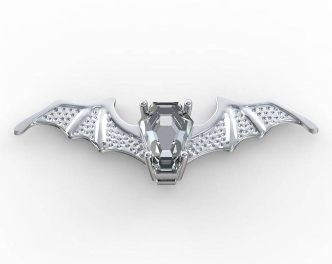 Coffin Gem - 3ct BATWING PENDANT