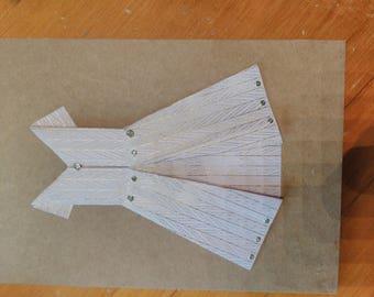 Pink origami dress card