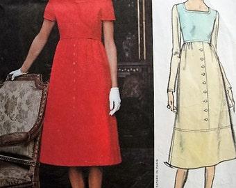 LOVELY Guy Laroche Dress Pattern VOGUE Paris Original 2507  Daytime or After 5 MIDI Dress Bust 34 Vintage Sewing Pattern