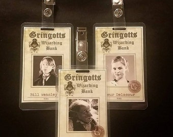 Gingotts ID Badges inspired by Harry Potter