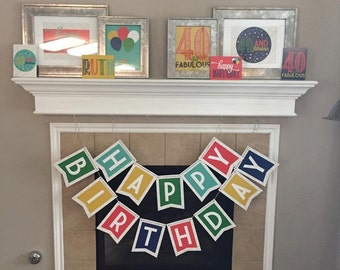 Happy Birthday PRINTABLE Banner (INSTANT DOWNLOAD) by Love The Day