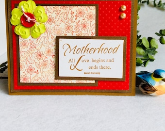 Handmade Greeting Card, Mom, Happy Mother's Day, Grandmother
