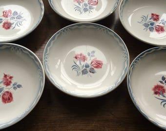 Lovely set of 6 vintage DIGOIN soup bowls!....