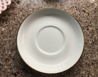 Hammersby & Co Bone China White with Gold Trim Saucer - Neiman Marcus