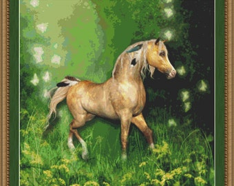 Cross Stitch Pattern Forest Horse Cross Stitch Pattern / Design