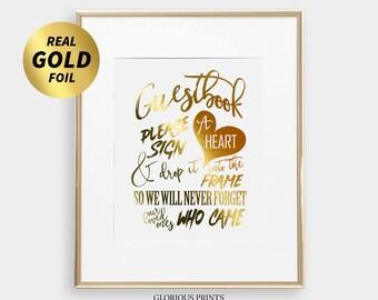 Wedding GUEST DROP BOX Sign - for Alternative Heart Guestbook