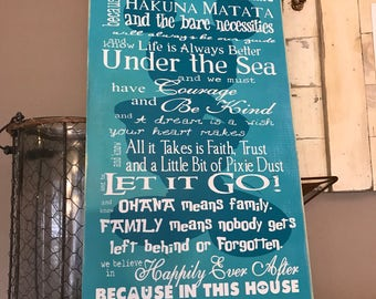 Disney Quotes In This House Family Rules Colored