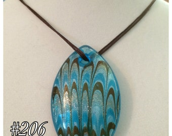 Handblown Glass Pendant Necklace