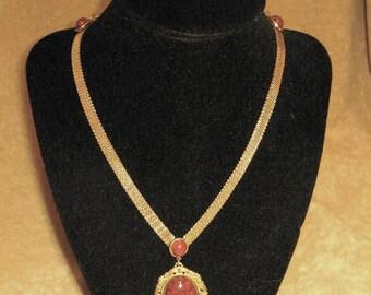 60s Gold Mesh Choker Necklace Vintage