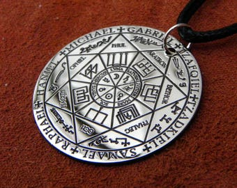 Archangel pendant etsy the seals of the seven archangels pendant the seven archangels sigil jewerly aloadofball Images