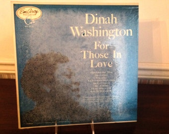 """Vintage Jazz Vinyl 12"""" L P - Dinah Washington """"For Those In Love"""" EmArcy/Mercury Records 1955 orig - Vinyl is NEAR MINT! MG-36011 A"""
