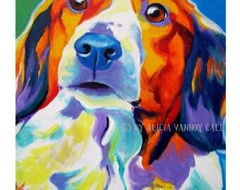 Kooiker Hound, Pet Portrait, DawgArt, Dog Art, Kooiker Art, Pet Portrait Artist, Colorful Pet Portrait, Pet Portrait Painting, Art Prints
