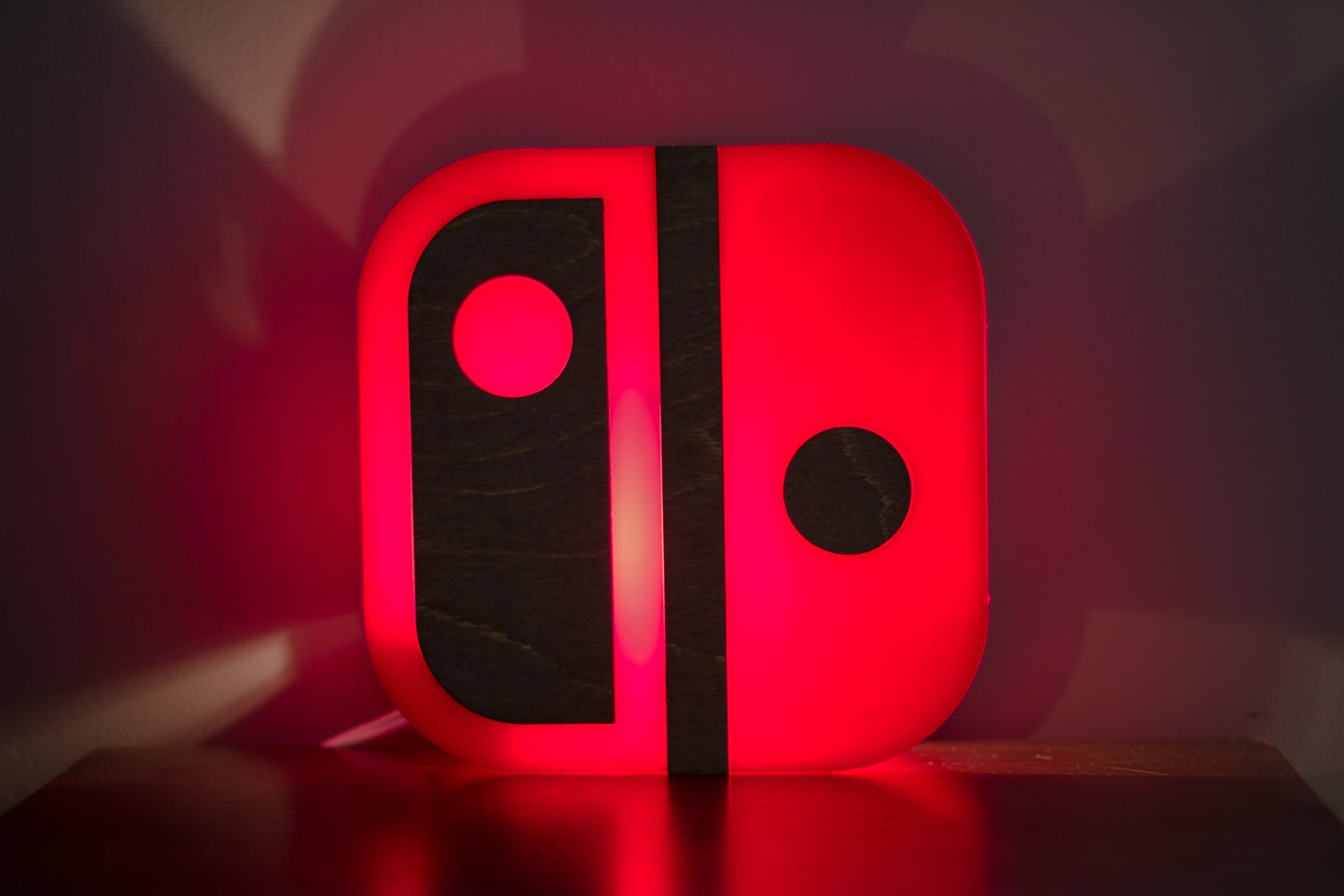 Nintendo Switch lamp end table or wall mountable