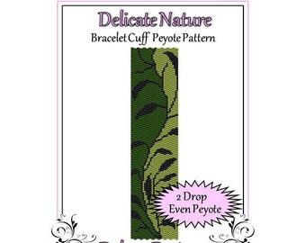 Bead Pattern Peyote(Bracelet Cuff)-Delicate Nature