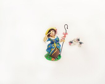 "Little Bo Peep Sculpture - Found Item Sculpture, ""Little Bo Peep Has Lost Her Sheep"""