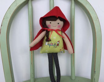 Little Red Riding Hood, Handmade Doll Perfectly Sized for Little Hands